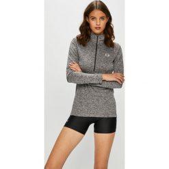 Under Armour - Bluza Tech 1/2 Zip. Szare bluzy damskie marki Under Armour, m, z nadrukiem, z bawełny, z kapturem. Za 179,90 zł.