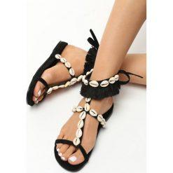 Rzymianki damskie: Czarne Sandały Mistresses