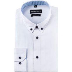 Koszula MICHELE KDBE000352. Niebieskie koszule męskie na spinki marki bonprix, m, z nadrukiem, z klasycznym kołnierzykiem, z długim rękawem. Za 199,00 zł.