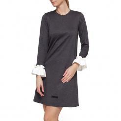 Sukienka w kolorze antracytowym. Szare sukienki mini marki YULIYA BABICH, xs, z falbankami. W wyprzedaży za 164,95 zł.