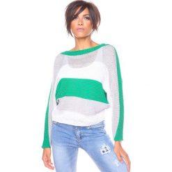 """Swetry klasyczne damskie: Sweter """"Olivia"""" w kolorze zielonym"""