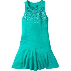 Odzież dziecięca: Sukienka z cekinami bonprix szmaragdowy