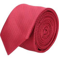 Krawat platinum czerwony classic 213. Czerwone krawaty męskie Recman, z aplikacjami, z tkaniny, eleganckie. Za 49,00 zł.