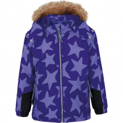 Kurtka zimowa w kolorze fioletowym. Fioletowe kurtki dziewczęce zimowe marki Jack Wolfskin, z hardshellu. W wyprzedaży za 192,95 zł.
