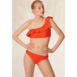 Stroje dwuczęściowe damskie: Dwuczęściowy strój z topem na jedno ramię – Pomarańczowy