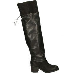 Kozaki - 214303 NERO. Czarne buty zimowe damskie marki Venezia, z materiału, na obcasie. Za 559,00 zł.
