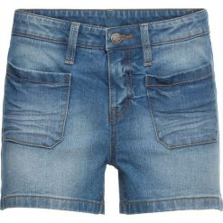 """Krótkie spodenki dżinsowe bonprix niebieski """"bleached"""". Niebieskie bermudy damskie bonprix, z jeansu. Za 59,99 zł."""