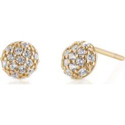 Biżuteria i zegarki: Piękne Złote Kolczyki – złoto żółte 585, Cyrkonia