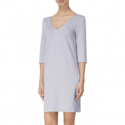 Sukienka w kolorze szarym. Szare sukienki mini marki BOHOBOCO, proste. W wyprzedaży za 639,95 zł.