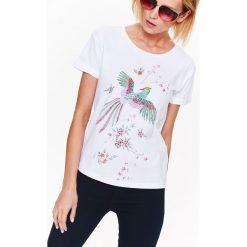 T-shirty damskie: T-SHIRT KRÓTKI RĘKAW DAMSKI, Z NADRUKIEM