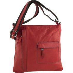 Torebki klasyczne damskie: Skórzana torebka w kolorze czerwonym – 28 x 28 x 3 cm