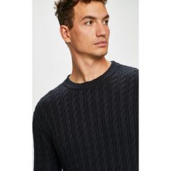 Scotch & Soda - Sweter. Czarne swetry klasyczne męskie Scotch & Soda, l, z bawełny, z okrągłym kołnierzem. Za 429,90 zł.