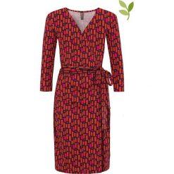 """Sukienki hiszpanki: Sukienka """"Katia"""" w kolorze różowo-czerwonym"""