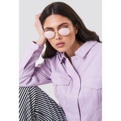 NA-KD Accessories Owalne okulary przeciwsłoneczne - Purple. Fioletowe okulary przeciwsłoneczne damskie aviatory NA-KD Accessories, owalne. Za 80,95 zł.