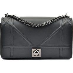 Torebki klasyczne damskie: Skórzana torebka w kolorze czarnym – 25 x 15 x 8 cm