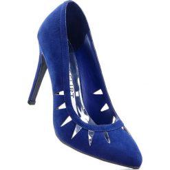 Buty ślubne damskie: Czółenka bonprix ciemnoniebieski