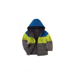 Kurtka chłopięca zimowa z kieszeniami, z kapturem, rozpinana, z polarem. Szare kurtki chłopięce z kapturem TXM, na zimę, z polaru. Za 29,99 zł.