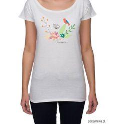 Koszulka damska. kwiaty i ptaki. Szare bluzki nietoperze Pakamera, w kwiaty. Za 85,00 zł.