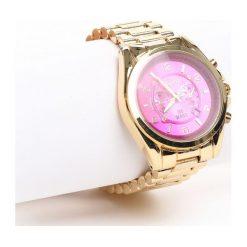 Złoto-Różowy Zegarek Trinket. Czerwone zegarki damskie Born2be, złote. Za 49,99 zł.