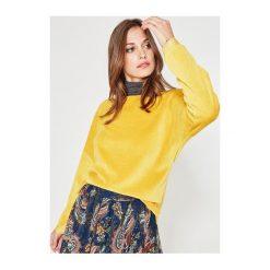 Welurowa bluza. Szare bluzy rozpinane damskie Promod, z weluru, z długim rękawem, długie. Za 99,90 zł.