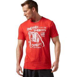 Reebok Koszulka męska RCF Morning Breath Bear Tee czerwona r. M (AY1033). Pomarańczowe koszulki sportowe męskie marki Reebok, z dzianiny, sportowe. Za 119,27 zł.