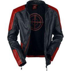 Suicide Squad Deadshot Kurtka skórzana czarny/czerwony. Czarne kurtki męskie bomber Suicide Squad, xl, z aplikacjami, ze skóry. Za 812,90 zł.