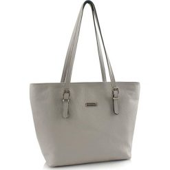 Torebki klasyczne damskie: Skórzana torebka w kolorze jasnoszarym – (S)40 x (W)30 x (G)13 cm