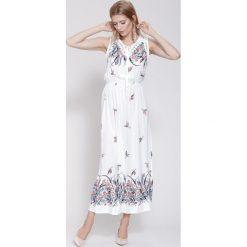 Długie sukienki: Biała Sukienka I'm Going Out