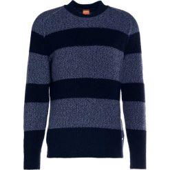 BOSS CASUAL ARBIERI Sweter dark blue. Niebieskie kardigany męskie marki BOSS Casual, m, z bawełny. W wyprzedaży za 623,20 zł.