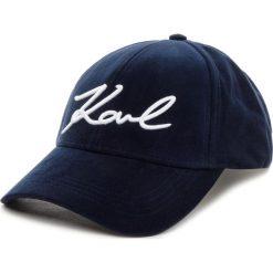 Czapka z daszkiem KARL LAGERFELD - 86KW3414 322 Midnight Bl. Czarne czapki z daszkiem damskie marki INOVIK, z elastanu. Za 299,00 zł.