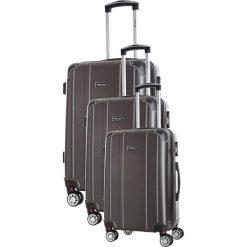Zestaw walizek w kolorze antracytowym - 3 szt. Szare walizki marki Travel One, z materiału. W wyprzedaży za 539,95 zł.
