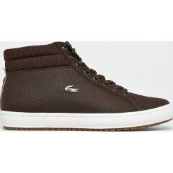 Lacoste - Buty. Szare buty skate męskie Lacoste, z materiału, na sznurówki, thinsulate. W wyprzedaży za 499,90 zł.