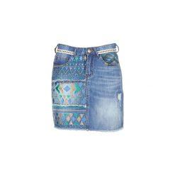 Spódnice krótkie Desigual  RASSENIA. Szare minispódniczki marki Desigual, l, z tkaniny, casualowe, z długim rękawem. Za 285,35 zł.