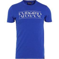 Emporio Armani LOGO Tshirt z nadrukiem dark blue. Szare koszulki polo marki Emporio Armani, l, z bawełny, z kapturem. Za 339,00 zł.