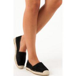 Tomsy damskie: Czarne zamszowe espadryle SWEET SHOES czarne
