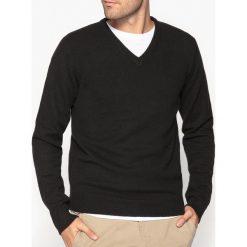 Kardigany męskie: Sweter z dekoltem V, 100% wełny owczej