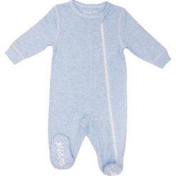 Pajacyki niemowlęce: Śpiochy w kolorze błękitnym