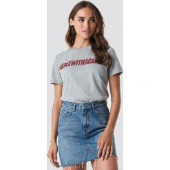 T-shirty damskie: NA-KD Trend T-shirt Rebel - Grey