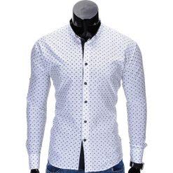 KOSZULA MĘSKA ELEGANCKA Z DŁUGIM RĘKAWEM K314 - BIAŁA. Białe koszule męskie marki Reserved, l. Za 69,00 zł.