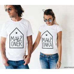 Koszulki dla par - małżonek i małżonka. Szare t-shirty damskie Pakamera, m, z napisami. Za 109,00 zł.