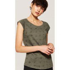 T-shirt z nadrukiem all over - Khaki. Brązowe t-shirty damskie marki DOMYOS, xs, z bawełny. Za 25,99 zł.