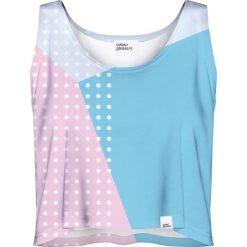 Colour Pleasure Koszulka damska CP-035 27 różowo-niebieska r. XXXL-XXXXL. Czerwone bluzki damskie marki Colour pleasure. Za 64,14 zł.