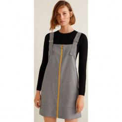 Mango - Sukienka Alpi. Szare sukienki mini marki Mango, na co dzień, l, z tkaniny, casualowe, z dekoltem halter, na ramiączkach, rozkloszowane. Za 119,90 zł.