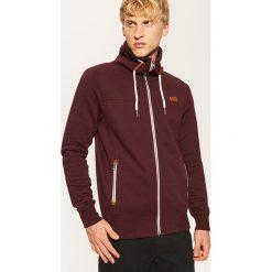 Bluza z wysokim kołnierzem - Bordowy. Czerwone bluzy męskie rozpinane marki KALENJI, m, z elastanu, z długim rękawem, długie. Za 129,99 zł.