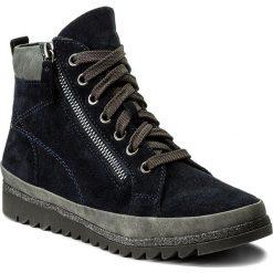 Botki JANA - 8-25207-29 Navy 805. Niebieskie buty zimowe damskie Jana, z materiału. W wyprzedaży za 229,00 zł.