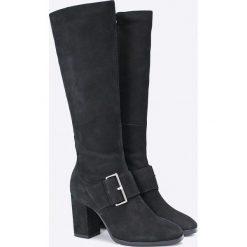 Caprice - Kozaki. Białe buty zimowe damskie Caprice, z materiału, na obcasie. W wyprzedaży za 299,90 zł.