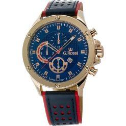 Zegarki męskie: Zegarek Gino Rossi męski Borton granatowo-czerwony (11455A-6F3)