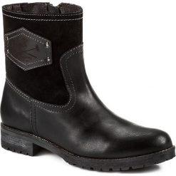 Botki GIOSEPPO - Bocha Black. Czarne buty zimowe damskie Gioseppo, z materiału, na obcasie. W wyprzedaży za 179,00 zł.
