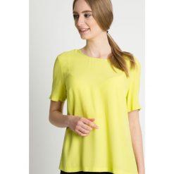 Bluzki, topy, tuniki: Żółta bluzka z krótkim rękawem BIALCON