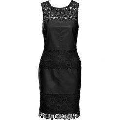 Sukienki hiszpanki: Sukienka z materiału w optyce skóry bonprix czarny
